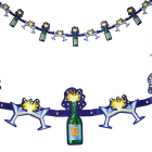 Slinger happy new year champagne met champagneglazen