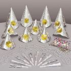 Party Set Happy New Year Zilver - 10 personen